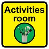 Activities Room sign - 300mm x 300mm