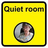 Quiet Room sign - 300mm x 300mm