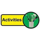 Activities Room sign - 480mm x 210mm