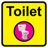 Toilet sign - 300mm x 300mm