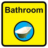 Bathroom sign - 300mm x 300mm