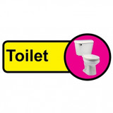 Toilet sign - 480mm x 210mm