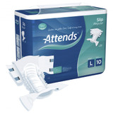 Attends Slip Regular Plus 10 All-In-Ones - Large