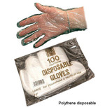 Poly Gloves Large