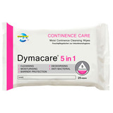 Aquamed Dymacare 5-In-1 Continence Wipes - Pack of 25
