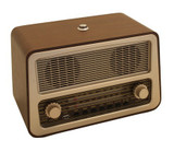 Retro Style FM / AM / USB One Button Radio