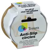 Tenura Aqua Safe Anti Slip Bath and Shower Discs - Clear