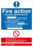 Fire Action (Standard) 300mm x 250mm