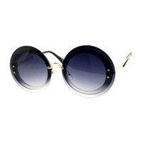 Adele Round Sunglass-Black/Grey