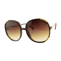 Louise Plastic Square Sunglass-Brown