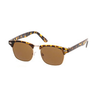Kids Clubmaster Sunglass-Tortoise/Brown lens