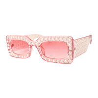Pearl Square Sunglass-Pink