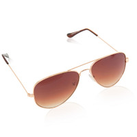 Metal Aviator With Gradient Lens-Gold/Brown