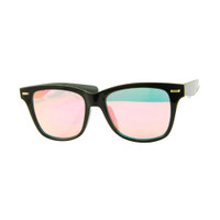Corrine Mirrored Wayfare- Black/Pink