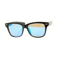 Corrine Mirrored Wayfare- Black/Blue