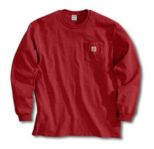 Carhartt Red Long Sleeve Pocket T-Shirt