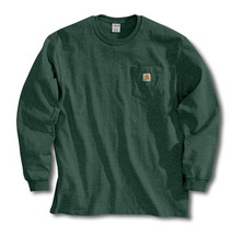 Carhartt Hunter Green Long Sleeve Pocket T-Shirt