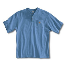 Carhartt Pacific Blue Short Sleeve Henley
