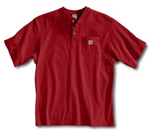 Carhartt Red Short Sleeve Henley