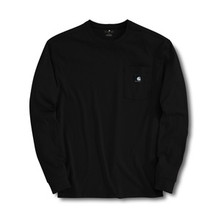 Carhartt Black Work-Dry Long-Sleeve T-Shirt