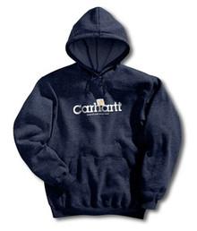 Carhartt Navy Pullover Hooded Logo Sweatshirt