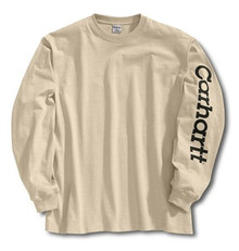 Carhartt Sand Logo Long-Sleeve T-Shirt