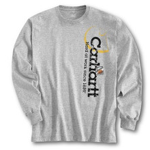 Carhartt Gray Logo Long-Sleeve T-Shirt