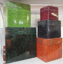 Palecek Lacquer Square Boxes