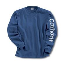 Carhartt Boys Royal Blue Long Sleeve Logo T-Shirt