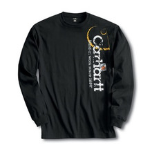 Carhartt Boys Black Long Sleeve Logo T-Shirt