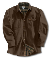 Carhartt Dark Brown Canvas Shirt Jacket -- Tall