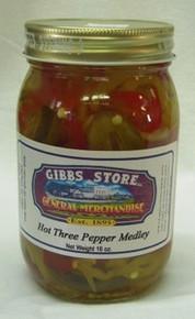 Hot Three Pepper Medley