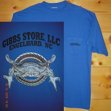 Gibbs Store Royal Blue Crab Short Sleeve T-Shirt