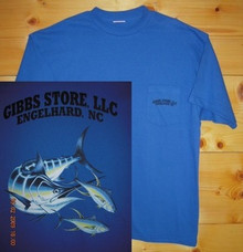Gibbs Store Royal Blue Fish Short Sleeve T-Shirt