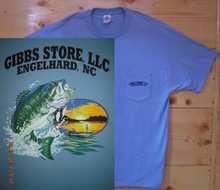 Gibbs Store Light Blue Fisherman Short Sleeve T-Shirt
