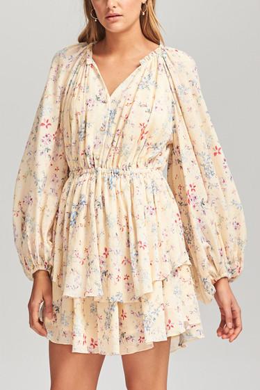 Le Bloom L/S Dress, Vanilla