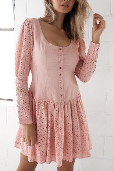 Baylee Dress, Rose