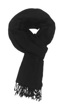 In-Sattva Colors - Elegant Solid Color Scarf Stole - Black