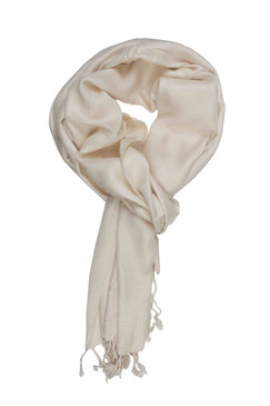 In-Sattva Colors - Soft and Elegant Solid Color Scarf Stole - Ecru