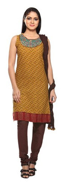 Trishaa Women's Salwaar Kameez Set with Embroidered Yoke - Front