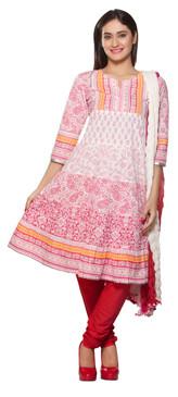 Trishaa Women's Printed Salwaar Kameez Set - Front