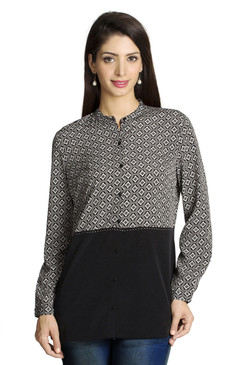 MOHR Women's Printed and Solid Shirt Ì´Ì_ÌÎ̝ÌÎÌ¥ Front