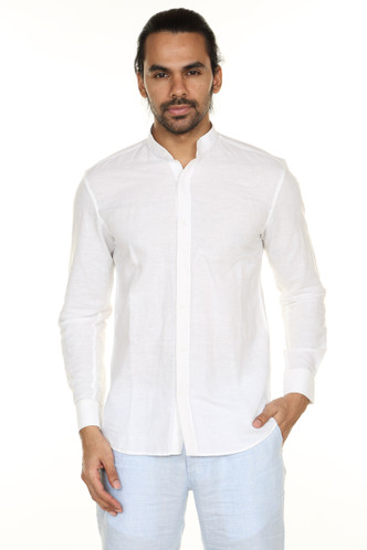 A.N.D. by Anita Dongre Button Down Shirt with Mandarin Collar Ì´Ì_ÌÎ̝ÌÎÌ¥ White Front