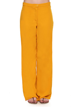 Global Desi Womens Boho Solid Color Pants - Front