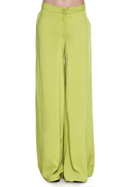 Global Desi Womens Boho Solid Wide Leg Pants - Front