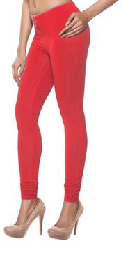 Women's Indian Solid Red Churidar Leggings