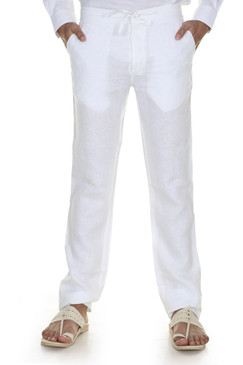 A.N.D. by Anita Dongre Trousers with Waist Tie-White