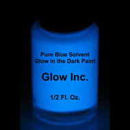 Pure Blue Solvent-Based Glow in the Dark Paint