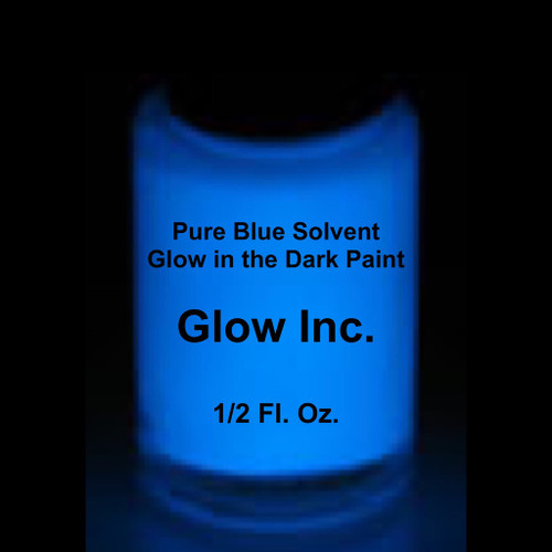 pure blue solvent based glow in the dark paint glow inc. Black Bedroom Furniture Sets. Home Design Ideas