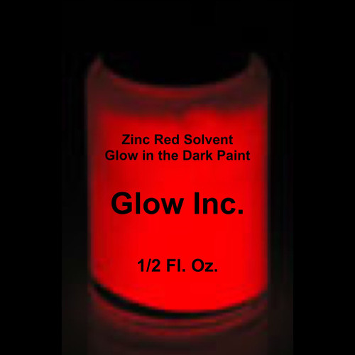Red Zinc Solvent Based Glow in the Dark Paint Glow Inc